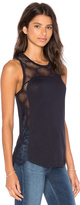 David Lerner High Low Lace Tank