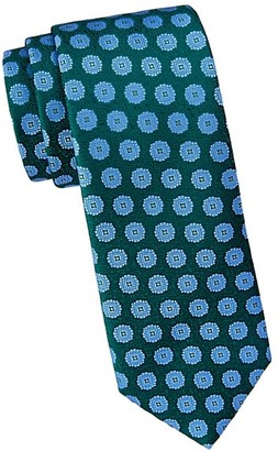Charvet Large Scale Medallion Silk Tie