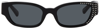 Magda Butrym Black Linda Farrow Edition Crystal Sunglasses