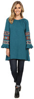 Scully Caily Embroidered Bell Sleeve Tunic