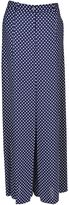 Michael Kors Dot Print Trousers From Blue Dot Print Trousers With Waistband With Belt Loops, Front Button And Zip Fastening, Two Side Pockets And Wid