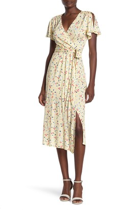 French Connection Roseau Floral Print Jersey Dress