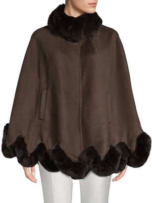 Wolfie Fur Made For Generation 800GM Rex Rabbit Fur and Wool Cape