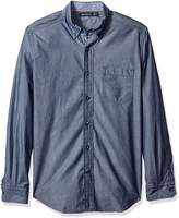 Nautica Men's Classic Fit Solid Chambray Shirt