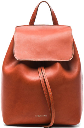 Mansur Gavriel Mini Backpack in Brandy | FWRD