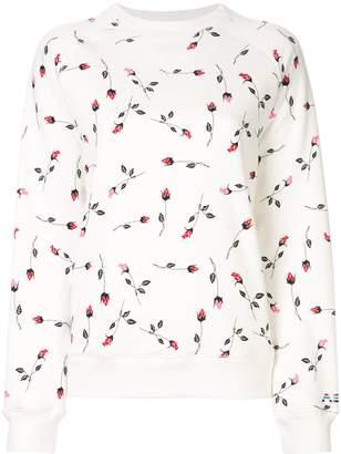 Adam Selman rose pattern sweatshirt