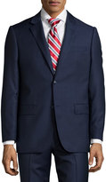 Neiman Marcus Modern-Fit Two-Piece Wool Suit, Navy Neat
