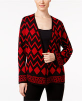 Alfred Dunner Open-Front Cardigan