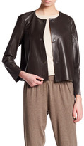 Lafayette 148 New York Leather Tansy Jacket