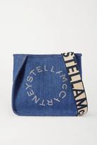 Stella McCartney Eyelet-embellished Denim Shoulder Bag - Blue
