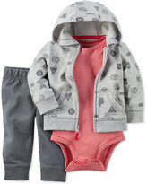 Carter's 3-Pc. Sports-Print Hoodie, Bodysuit & Pants Set, Baby Boys (0-24 months)