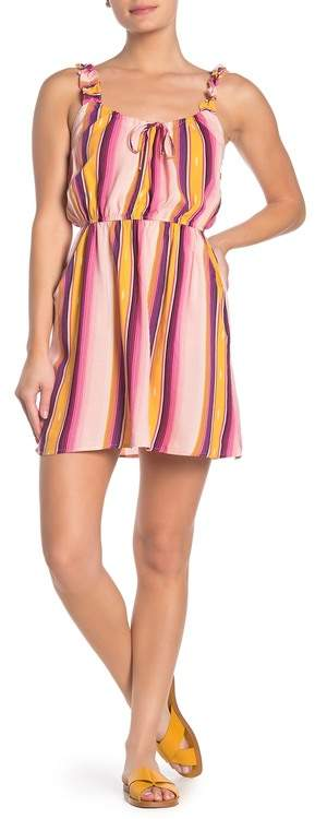 BeBop Ruffled Stripe Dress
