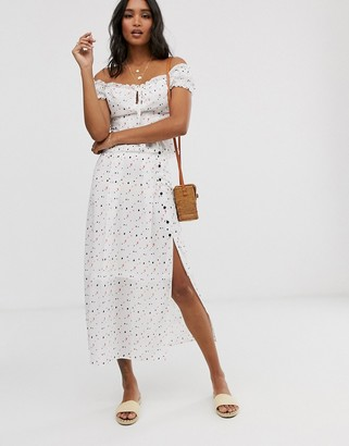 UNIQUE21 mixed heart print skirt