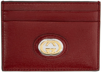 Gucci Red Interlocking G Card Holder