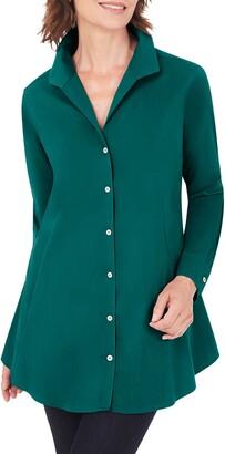 Foxcroft Cecelia Non-Iron Button-Up Tunic Shirt