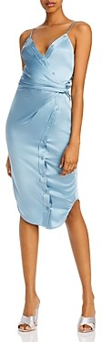 alexanderwang.t Buttoned Silk Camisole Midi Dress