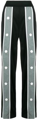 NO KA 'OI Oversize Button Striped Trousers