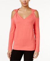 Alfani Cold-Shoulder Twist Sweater, Only at Macy's