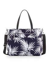 Milly Minis Palm-Print Diaper Bag, Navy