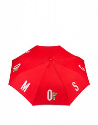 Moschino Bear Logo Openclose Umbrella Woman Red Size Single Size