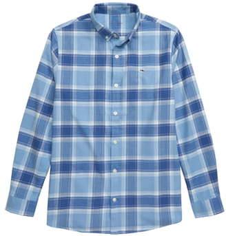 Vineyard Vines Mulberry Plaid Cotton Button-Down Shirt