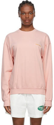 Sporty and Rich Pink Classic Logo Sweatshirt