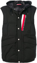 Moncler stripe patch gilet