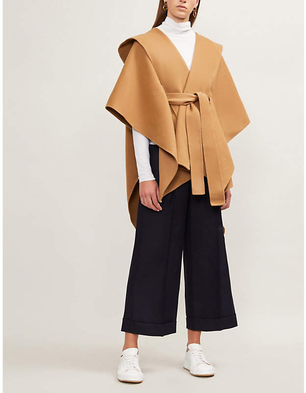 Theory Hooded wool-cashmere poncho
