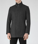 Reiss Reiss Forceful - Funnel Collar Jacket In Grey