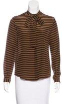 Stella Jean Striped Silk Top