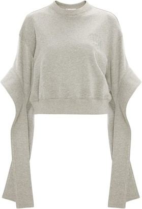 J.W.Anderson embroidered logo cropped sweatshirt