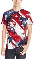 Akademiks Men's Starmaps Allover Americana T-Shirt