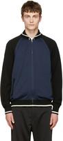 Junya Watanabe Navy japan Eagle Zip-up Sweater