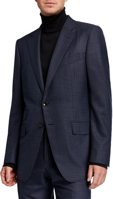 Tom Ford Men's Micro Tattersall Two-Piece Suit