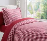 Pottery Barn Kids Buffalo Check Flannel Duvet Cover