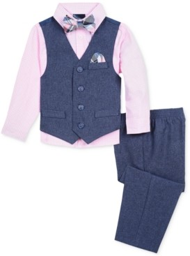 Nautica Baby Boys 4-Pc. Shirt, Vest, Pants & Bowtie Set