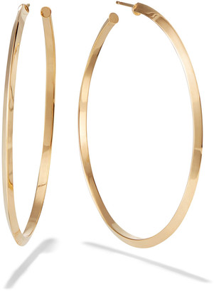 Lana 14k Gold Knife-Edge Hoop Earrings
