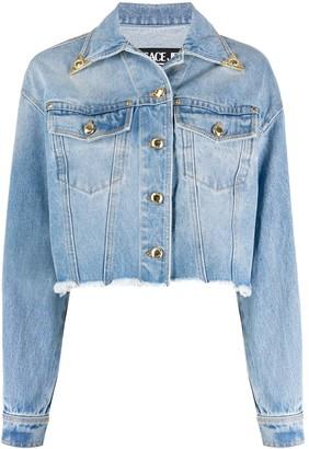 Versace capped Western-collar denim jacket