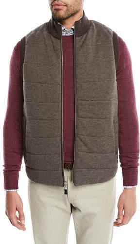 Peter Millar Men's Full-Zip Birdseye Vest