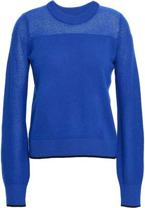 Rag & Bone Yorke Open Knit-paneled Cashmere Sweater