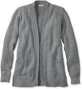 L.L. Bean Cotton Basket-Weave Sweater, Open Cardigan