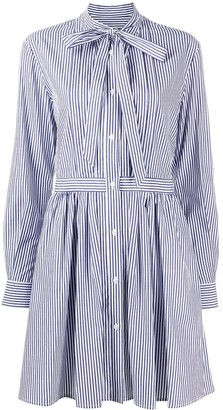 MSGM Striped Short Dress