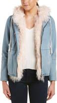 Adrienne Landau Reversible Denim Jacket
