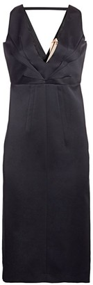 No.21 V-Neck Midi Sheath Dress
