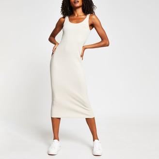 River Island Womens Beige square Neck Bodycon Dress