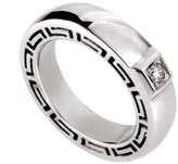 Versace V-Profile 18K White Gold Diamond Ring
