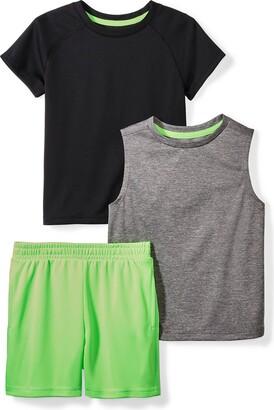 Spotted Zebra Amazon Brand Boys' Big Kid Active T-Shirt Tank and Shorts Set