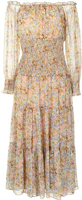 LIKELY Indica floral-print tiered dress