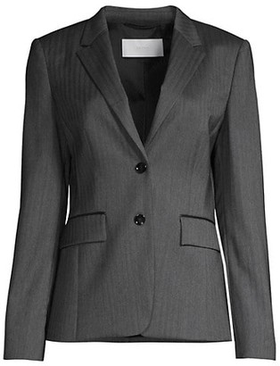 HUGO BOSS Julea6 Herringbone Stretch Wool Suiting Jacket
