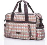 BeautyLand New Fashion Baby Nappy Changing Bag Diaper Bag 3Pcs Red/Grey